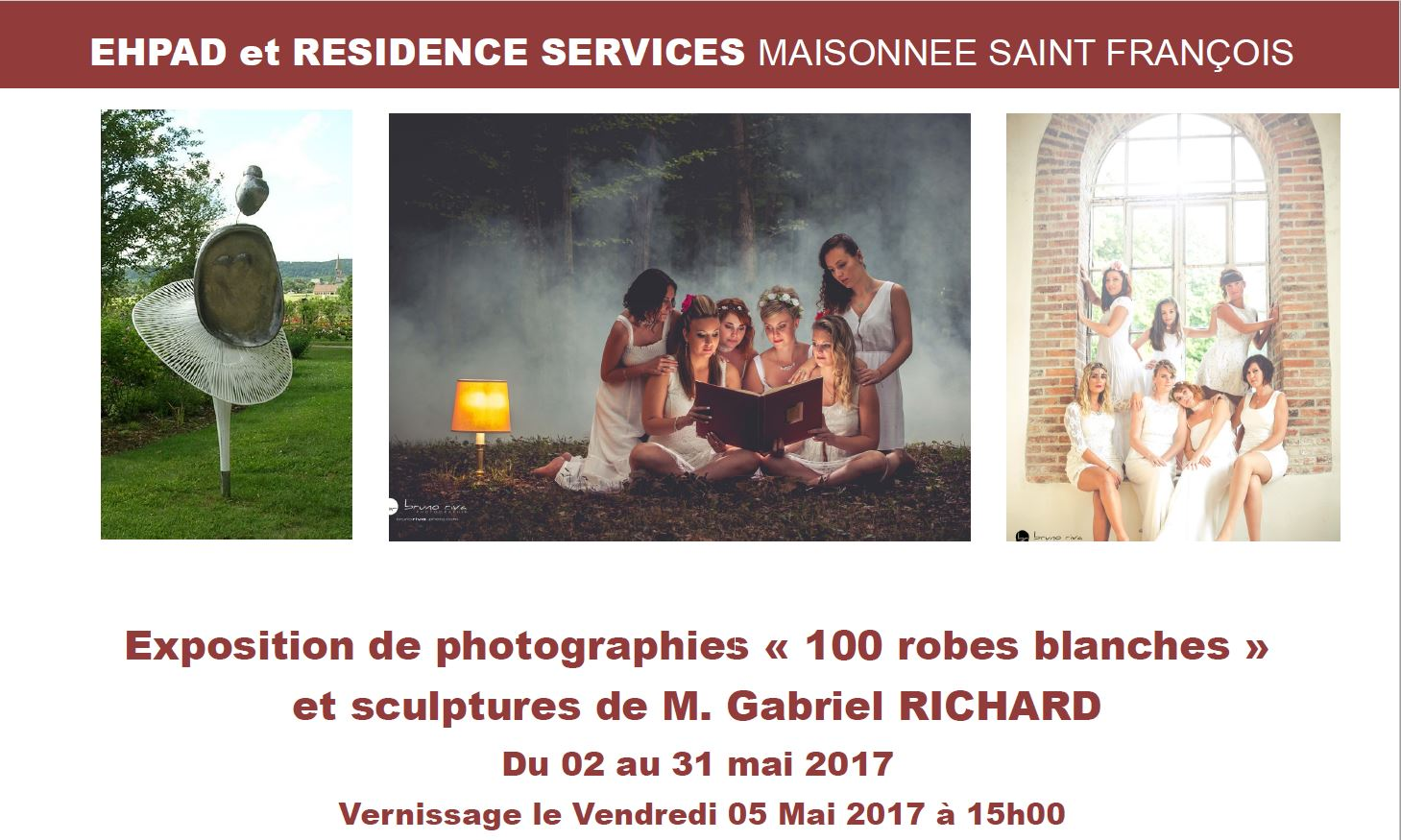 Expo 100 robes blanches